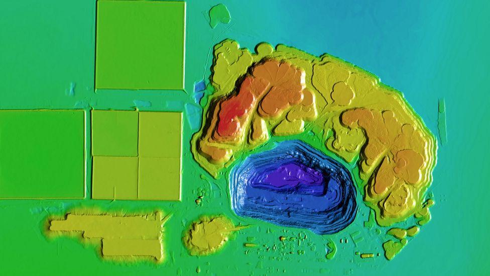 Hình ảnh mỏ kim cương Jwaneng tại Botswana từ Terrabotics