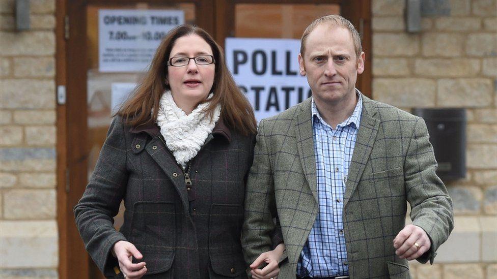 Dr Caroline Johnson and her husband Nik