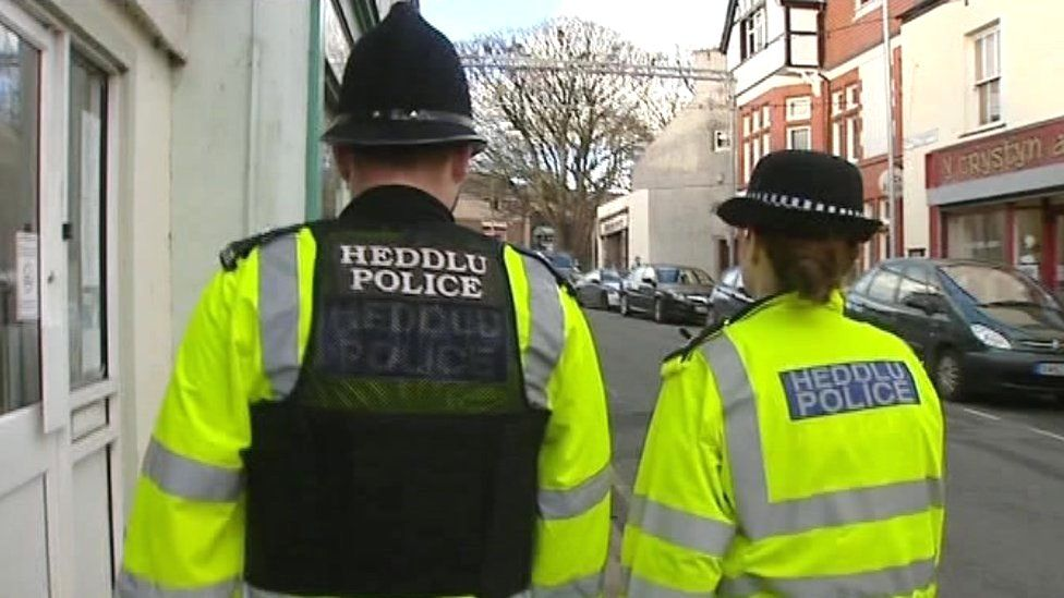 Police officers in Wales