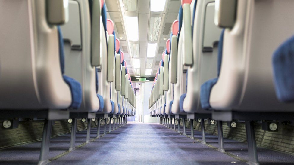 an empty train carriage