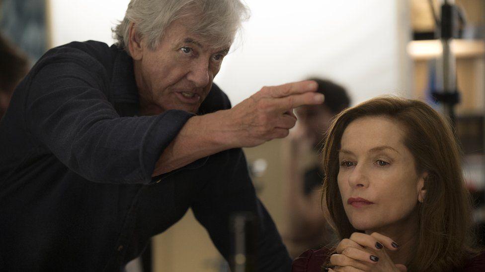 Paul Verhoeven and Isabelle Huppert in Elle