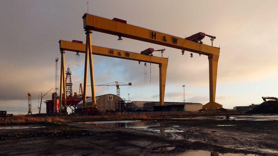 Harland and Wolff cranes Belfast