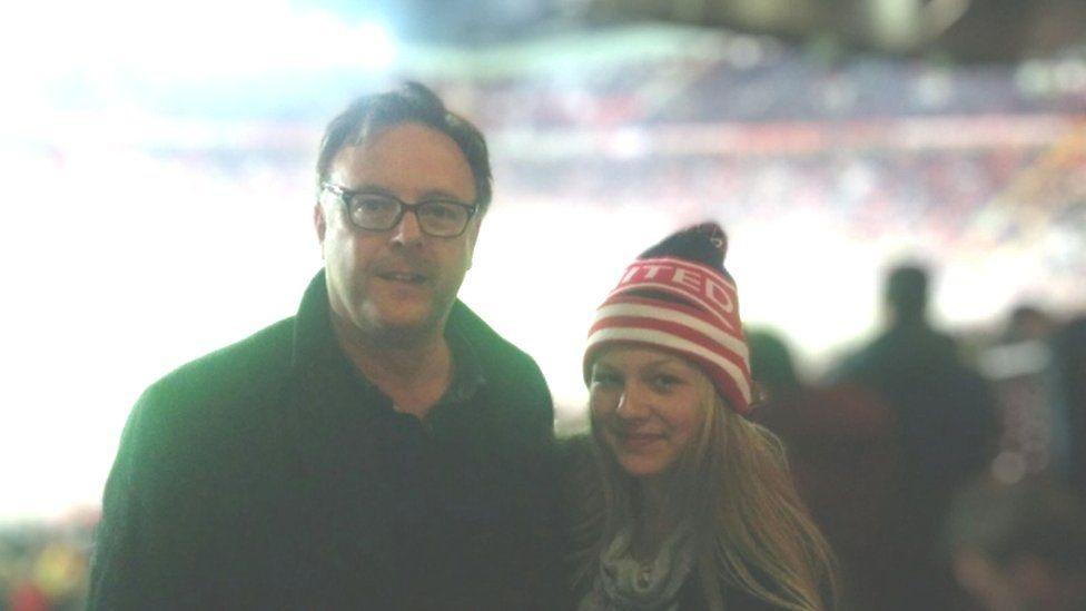 Nigel Manton and his step daughter