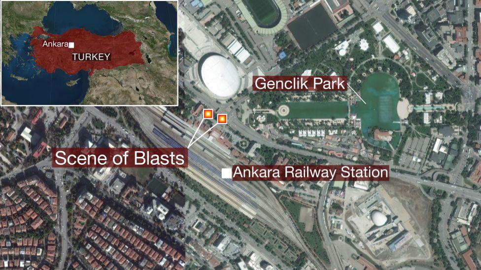 Map of Ankara
