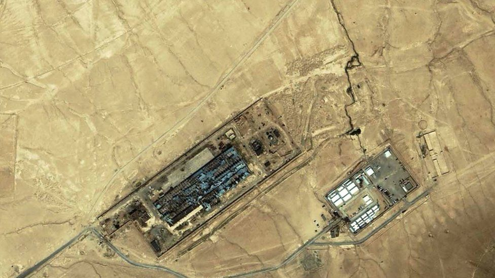 """A 2003 image said to be of a """"black site"""" near Kabul in Afghanistan"""