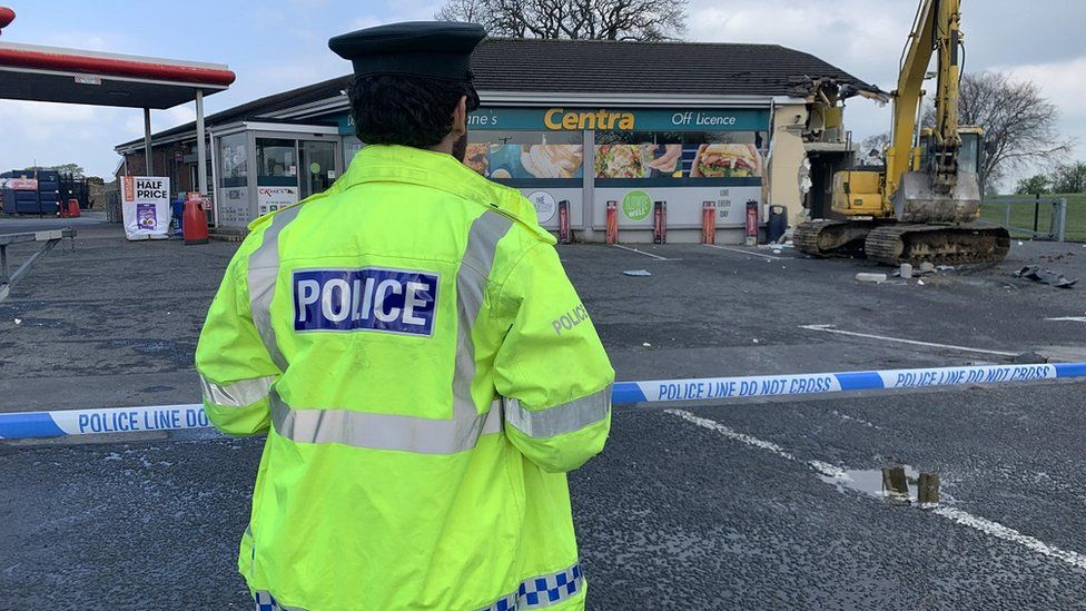 Police at ATM theft in Dungiven