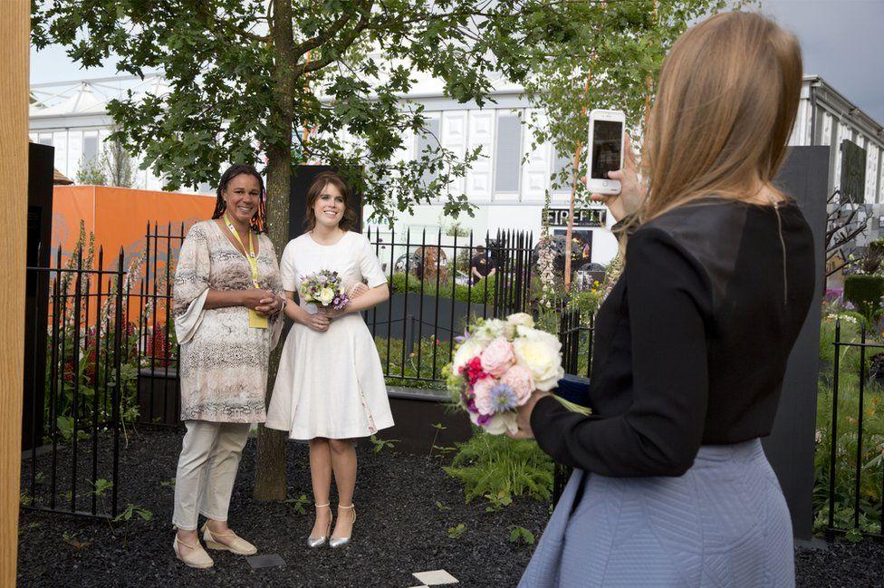 Juliet Sargeant with Princess Eugenie