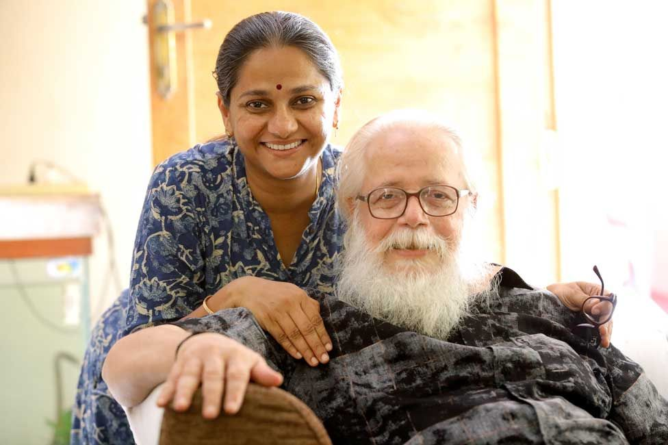 Nambi Narayanan with his daughter