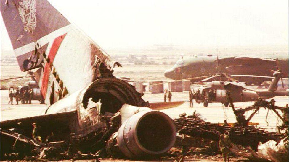 Flight BA149 destroyed on runway