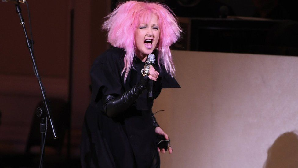 Cyndi Lauper performs at The Music of David Bowie tribute concert at Carnegie Hall