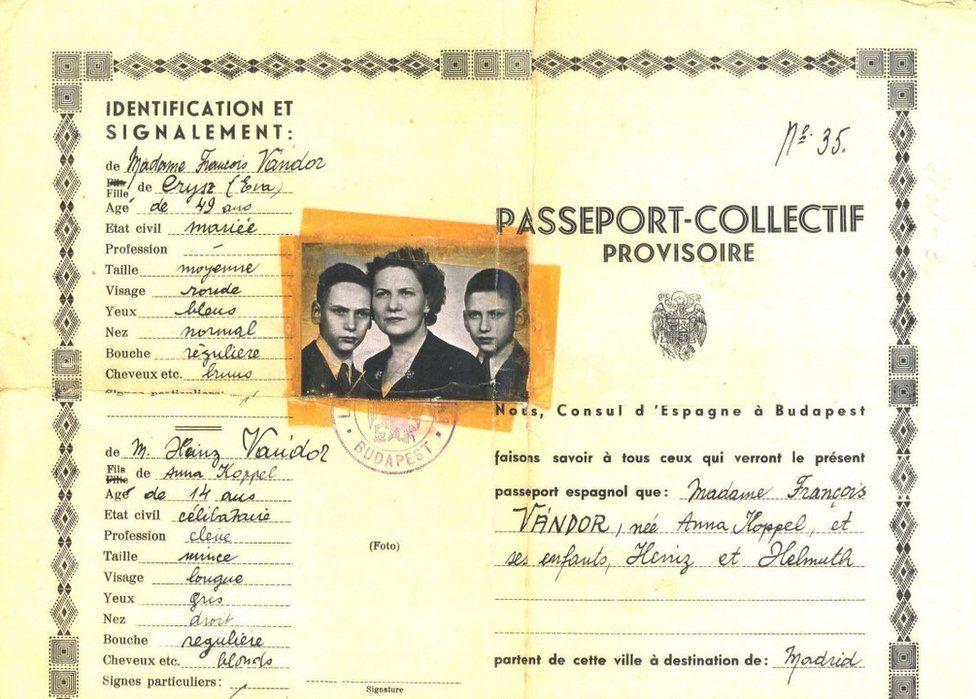 Joint passport for Vándor family