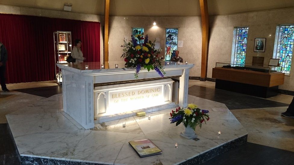 The shrine where Elizabeth Prout is buried in St Helens