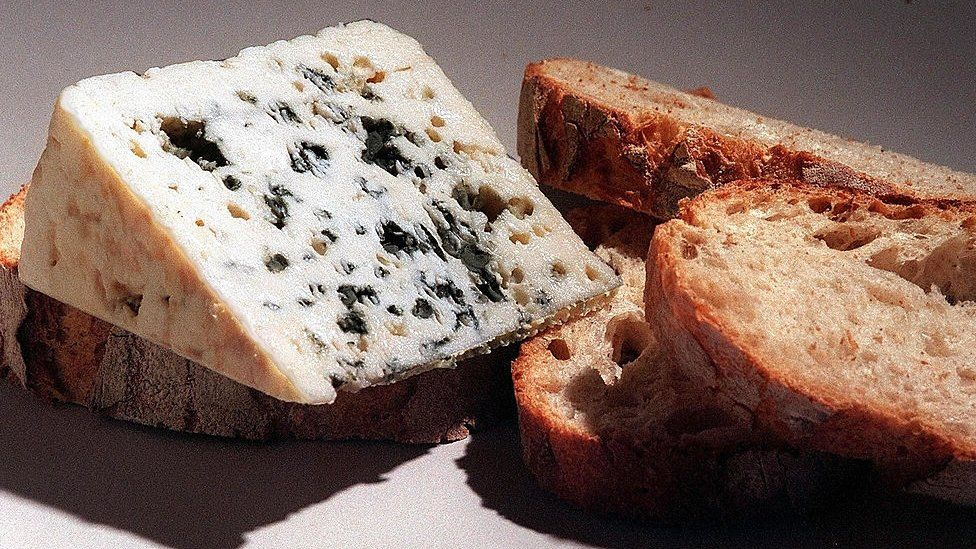 Blue cheese and bread