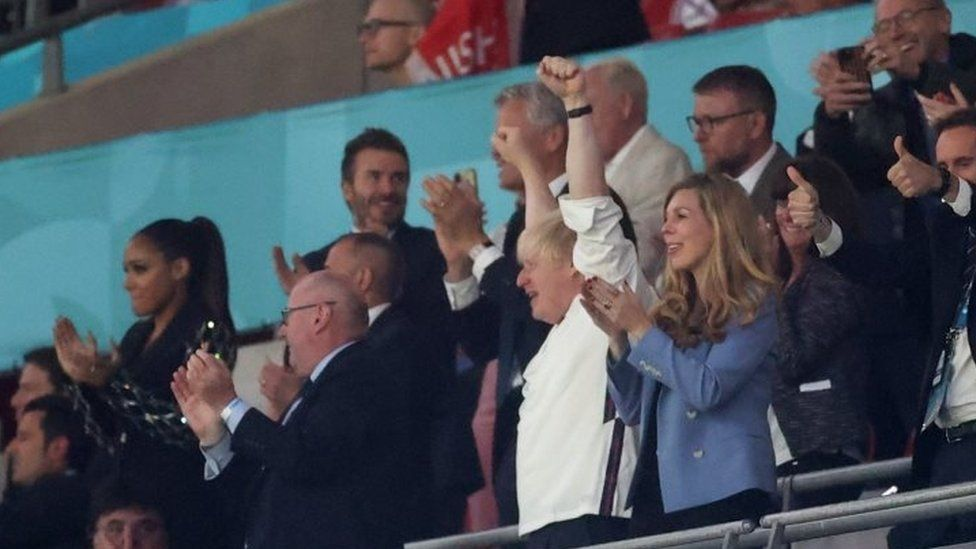 Boris Johnson with his wife Carrie Johnson