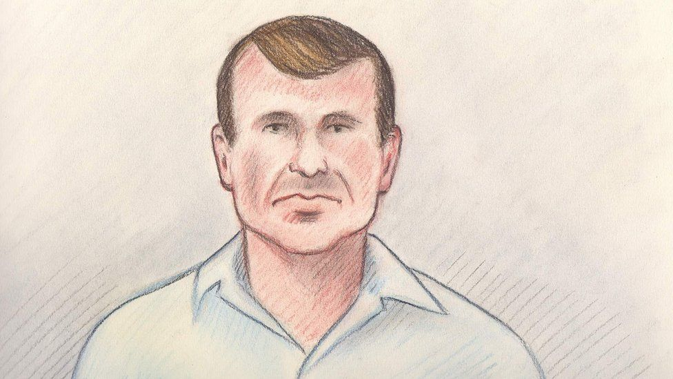 Cameron Ortis, shown in a court sketch from his court hearing in Canada on 13 September
