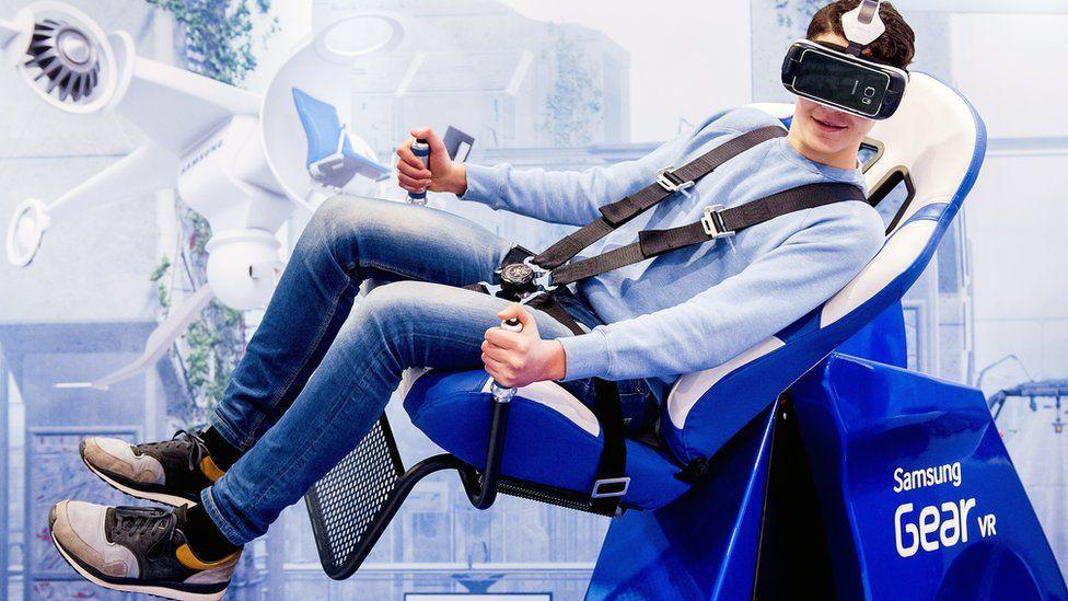 man wearing Hear VR headset