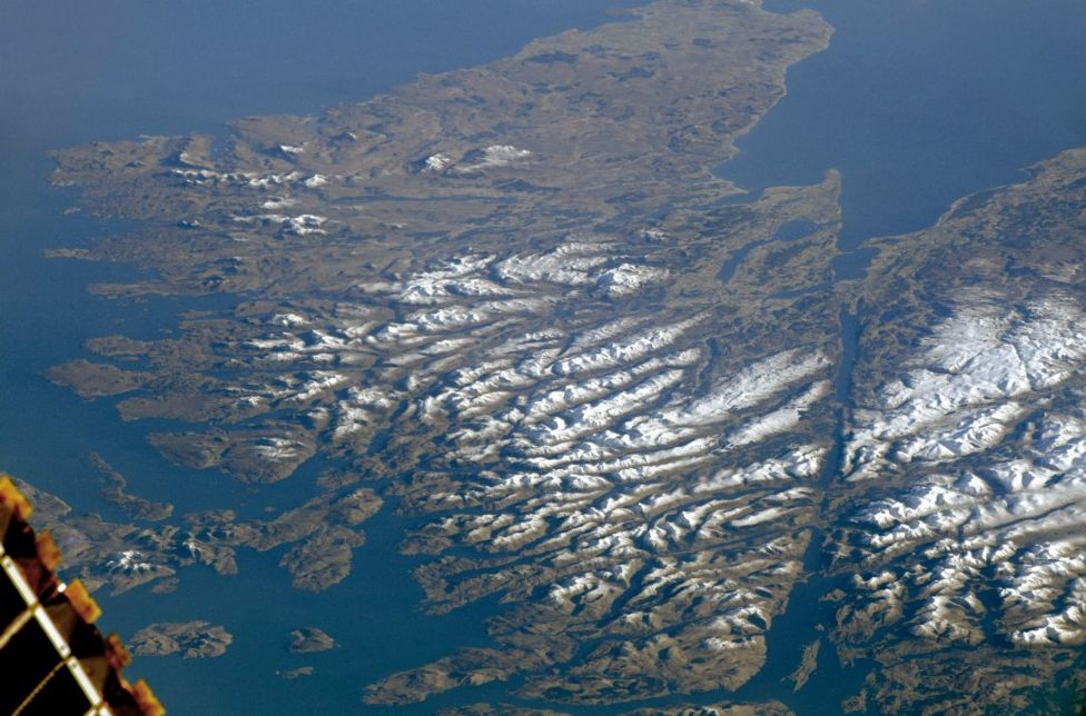 cloudless view of the highlands captured from space bbc news