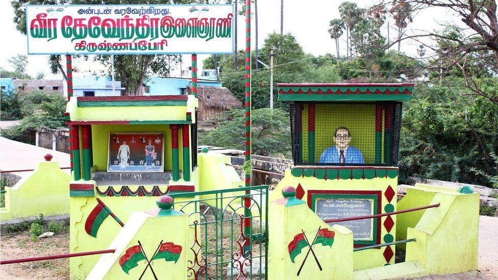 Ambedkar in cage
