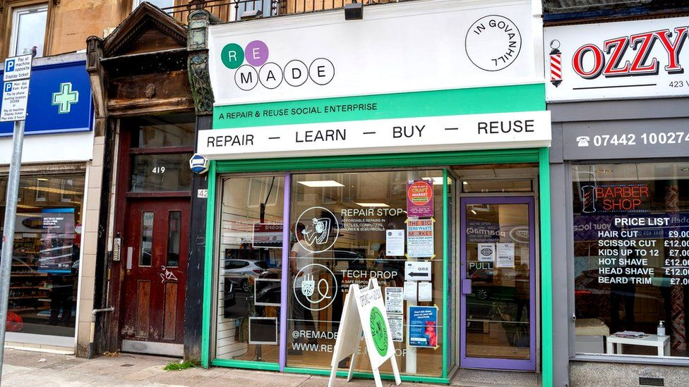 Remade shop in Govanhill