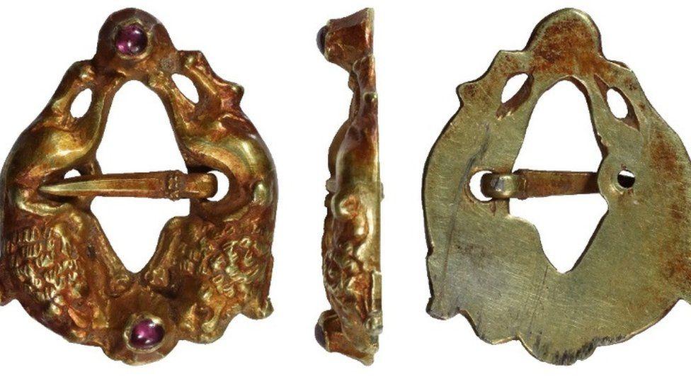 The Medieval silver gilt brooch