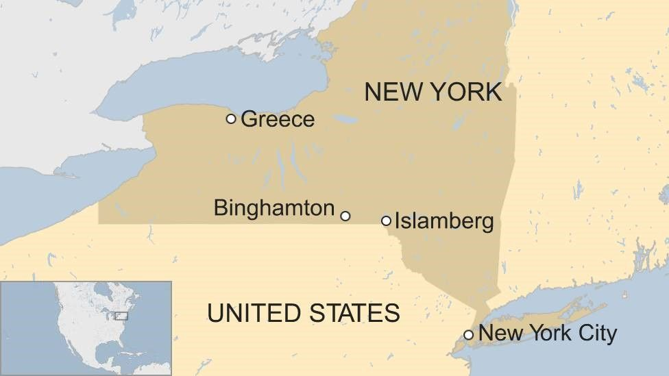 New York state map updated