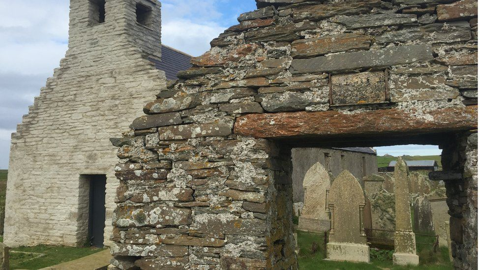 Burial ground and archway