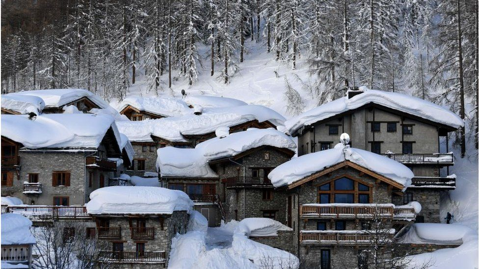 Chalets at the Val D'Isere ski resort