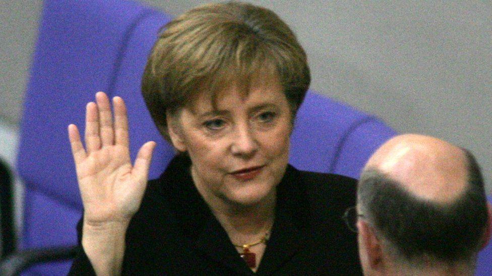 Angela Merkel was first sworn-in as chancellor in 2005