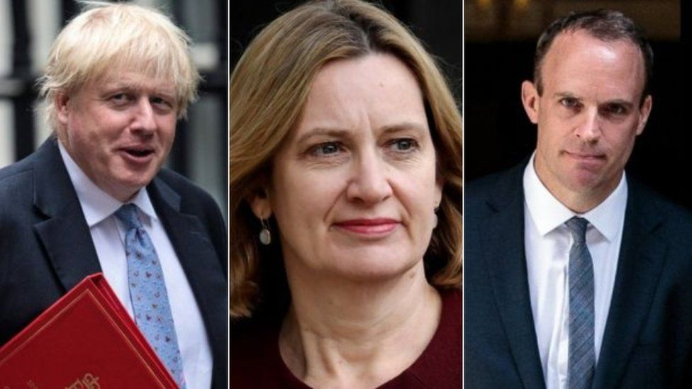 Boris Johnson, Amber Rudd and Dominic Raab