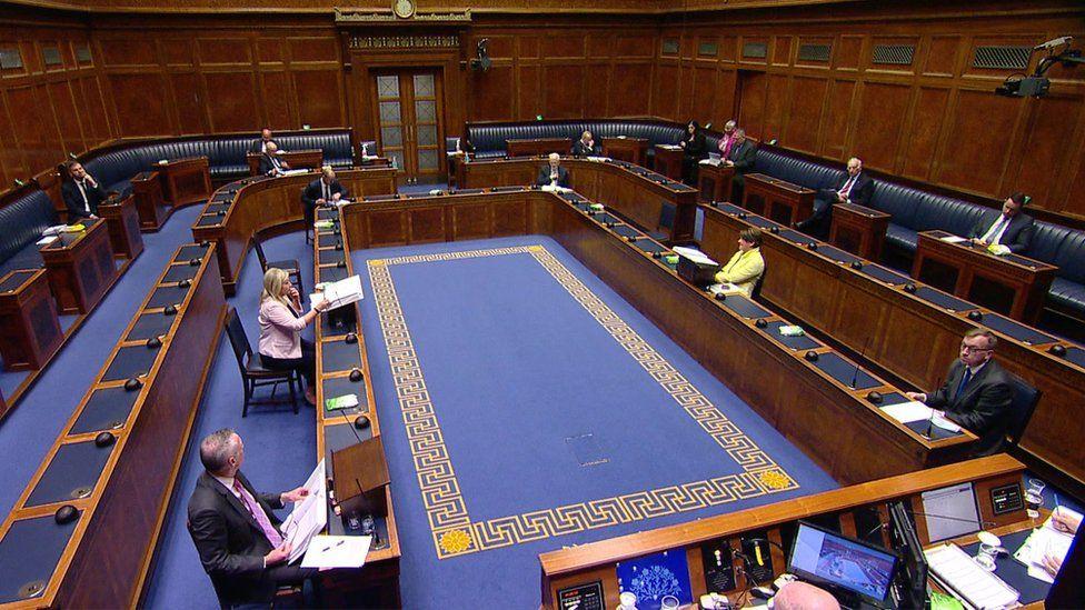 Arlene Foster in chamber