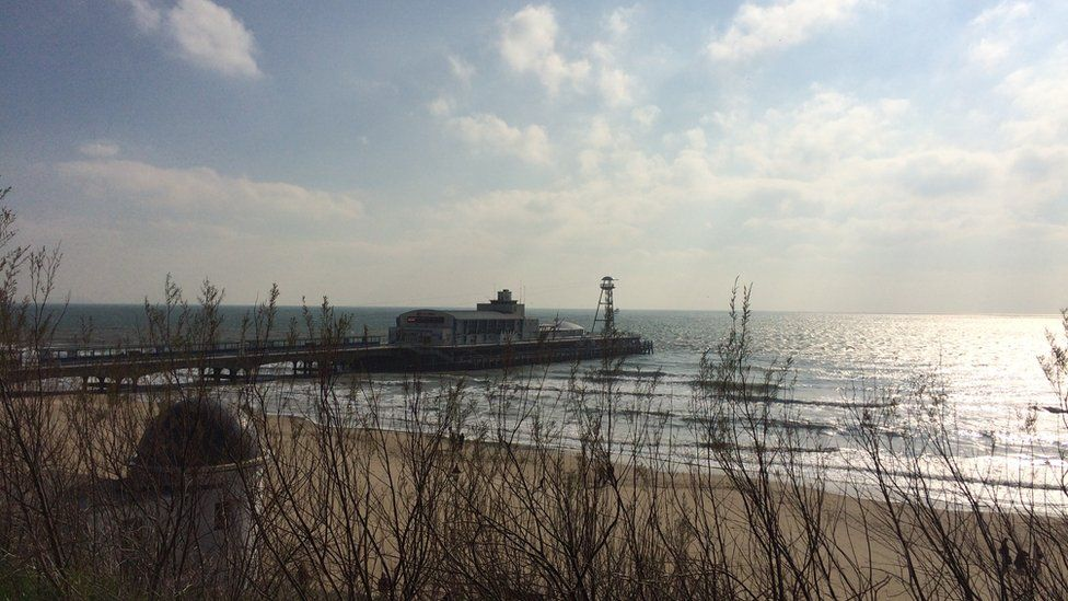 Bournemouth pier and sea