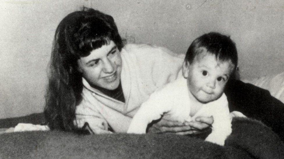 Sylvia Plath with son Nicholas as a baby