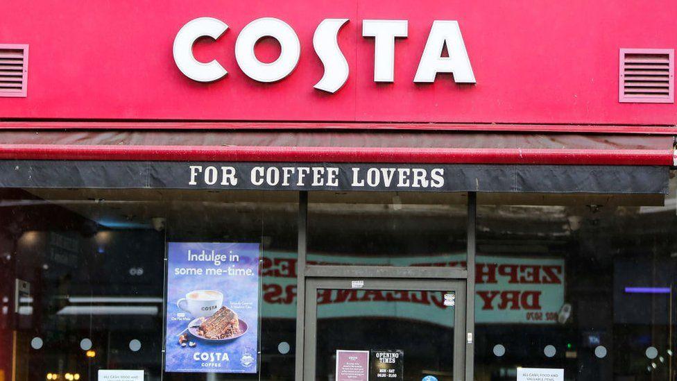 costa coffee branch in london