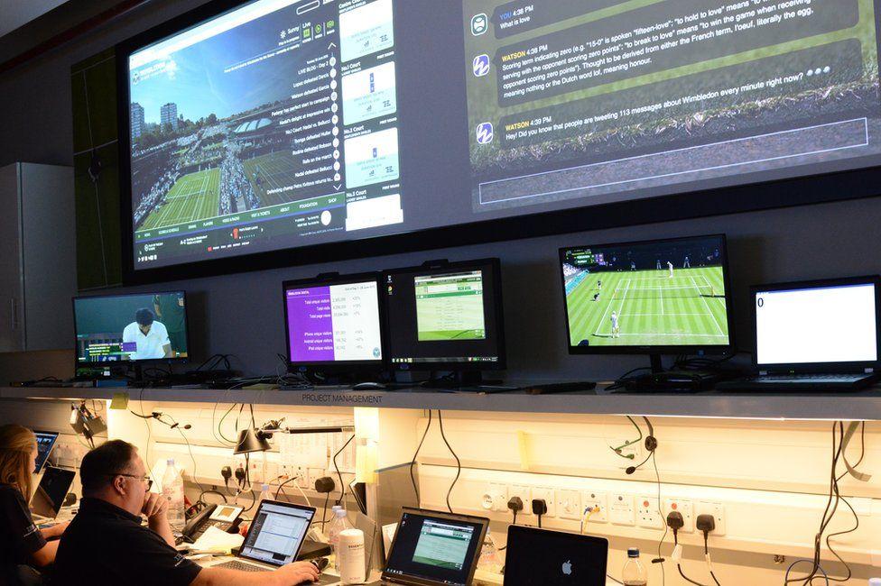 Tech bunker at Wimbledon