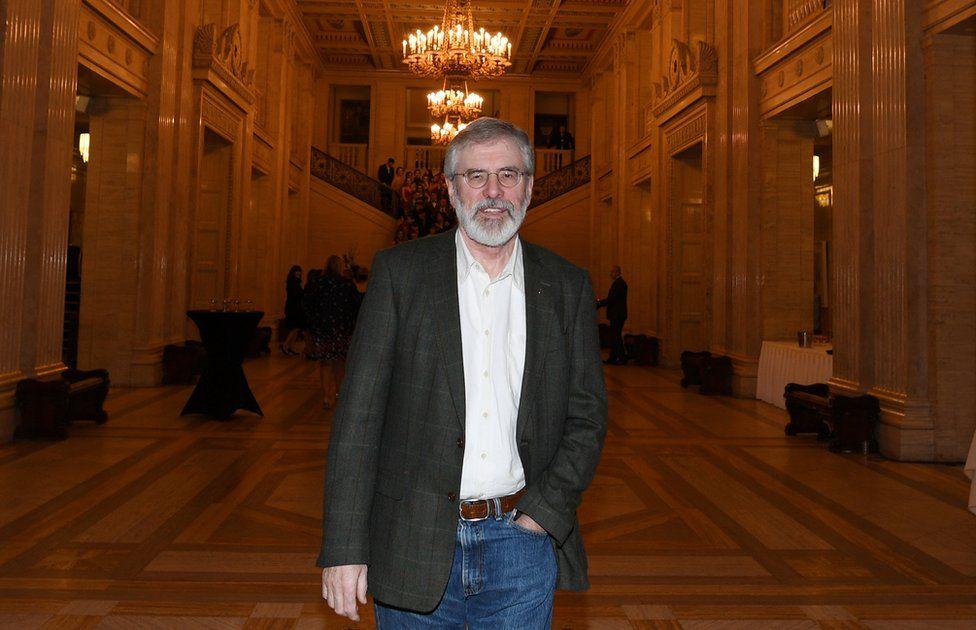 Gerry Adams on his last night as leader