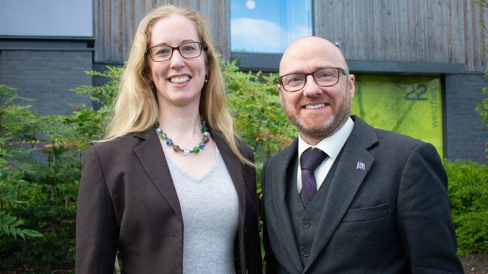 Lorna Slater and Patrick Harvie