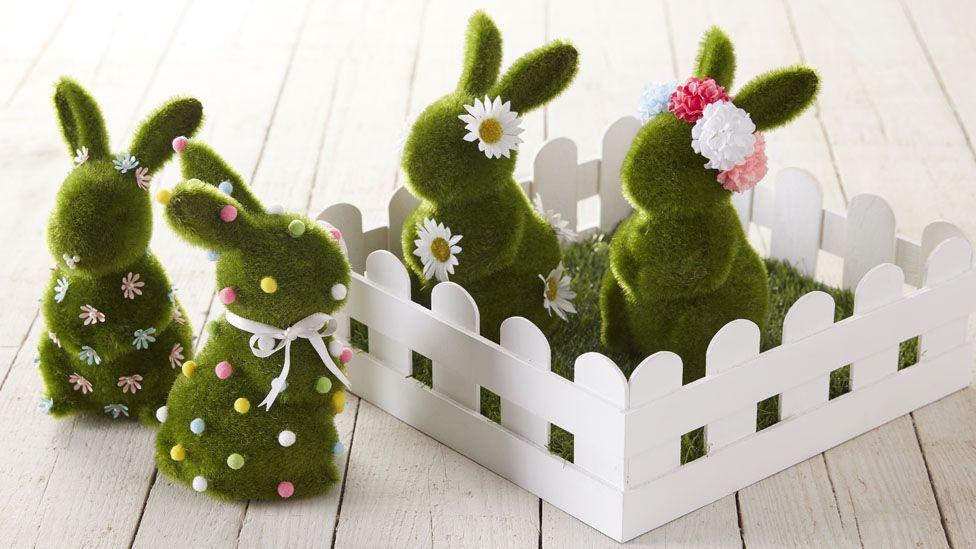 faux grass bunnies