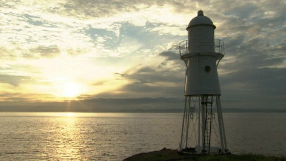 Black Nore Point Lighthouse in Portishead