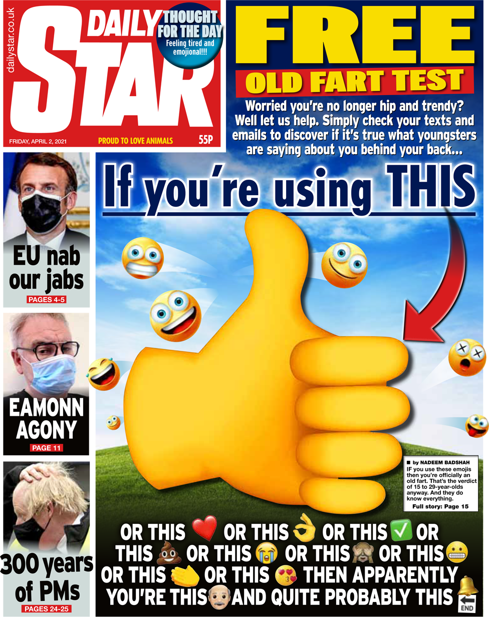 The Daily Star front page 2 April 2021