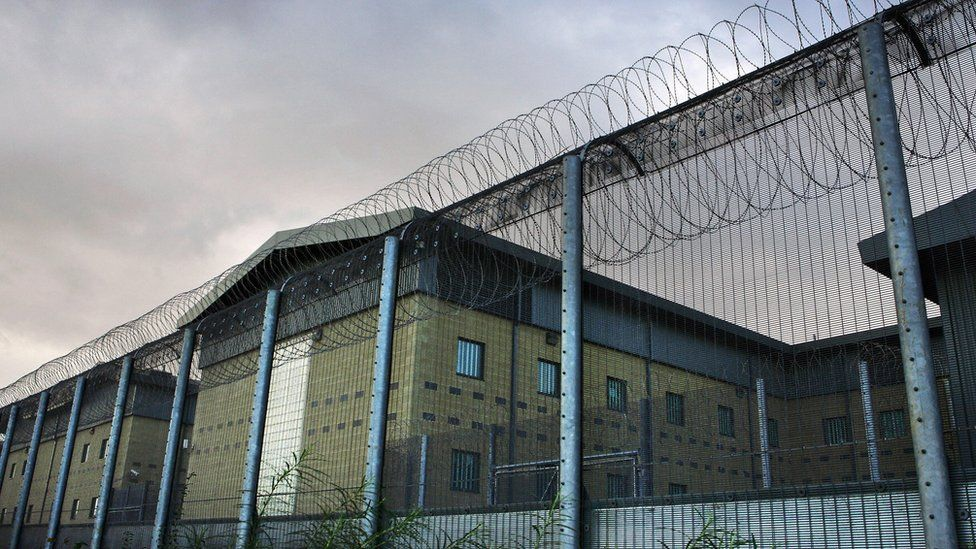Harmondsworth immigration centre in Middlesex