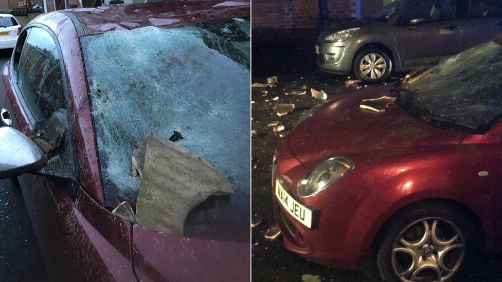 Car damaged in Gateshead