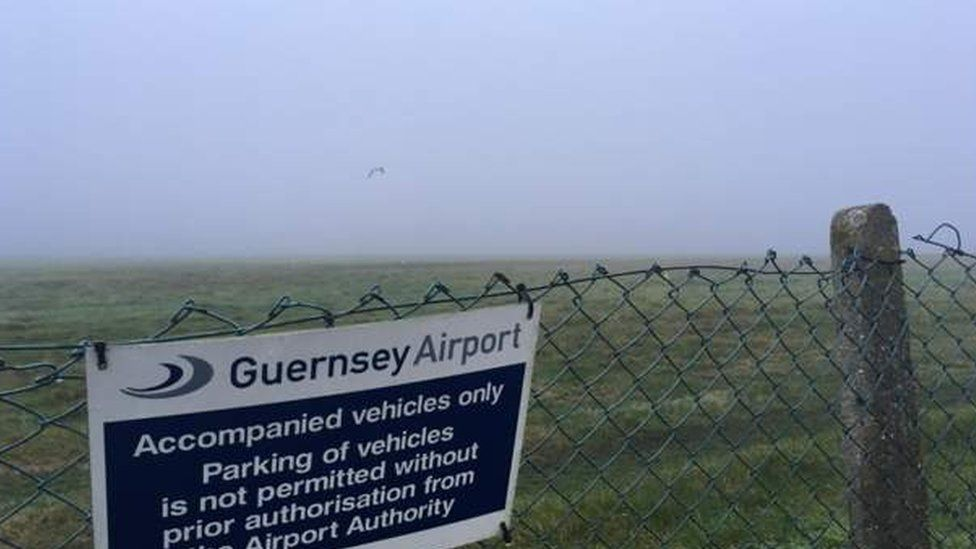 A foggy day at Guernsey Airport