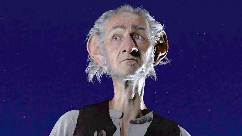 Actor Mark Rylance in Steven Spielberg's film version of Roald Dahl's BFG