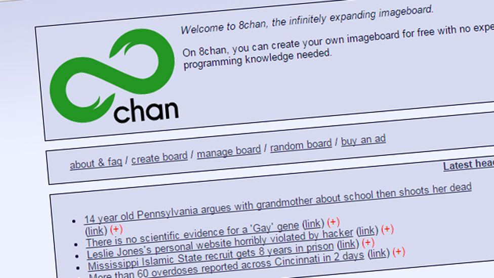 8chan front page