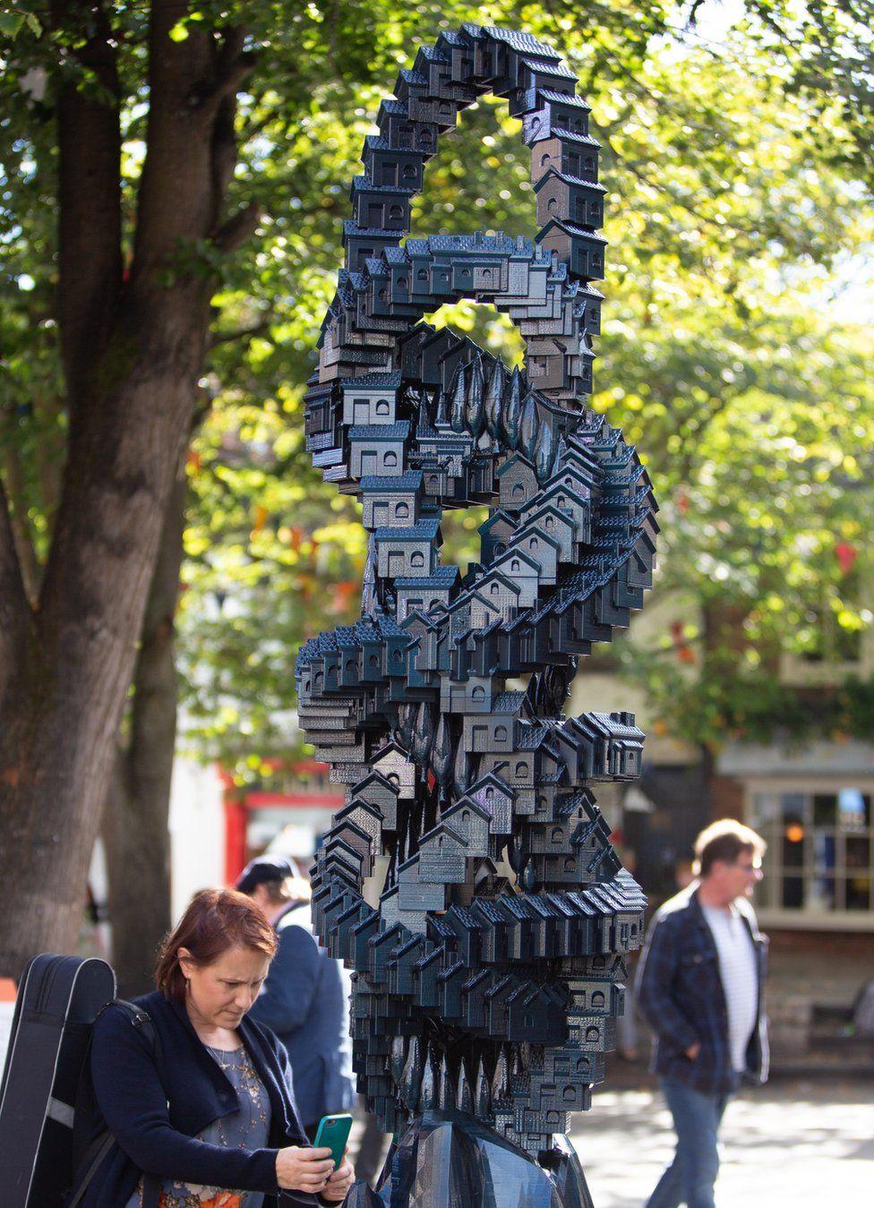 Matthew Plummer Fernandez's Token Homes sculpture