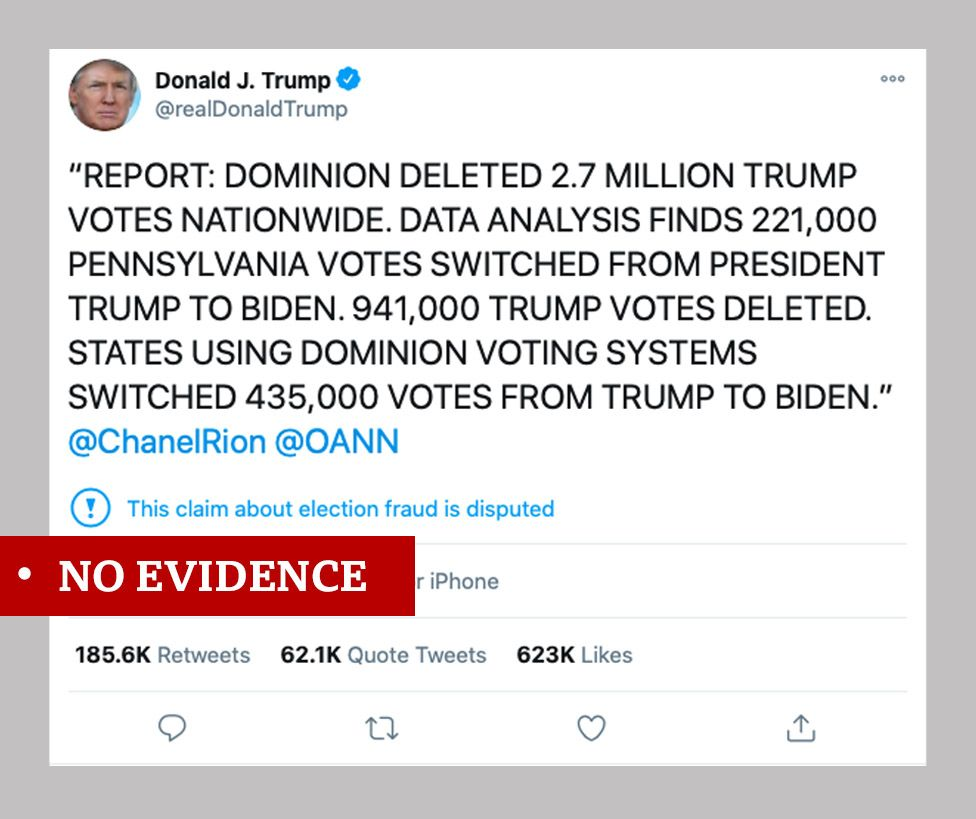 Trump Dominion tweet