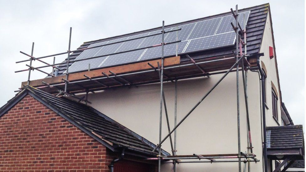 Generic solar panel being fitted to a roof