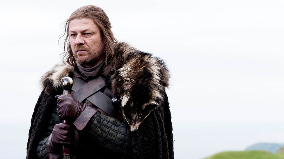 Sean Bean as Ned Stark in the first episode of Game of Thrones