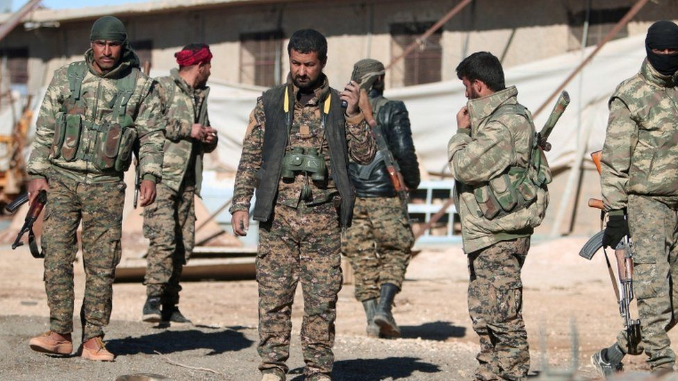 Syria Democratic Forces (SDF) fighters north of Raqqa, 17 November