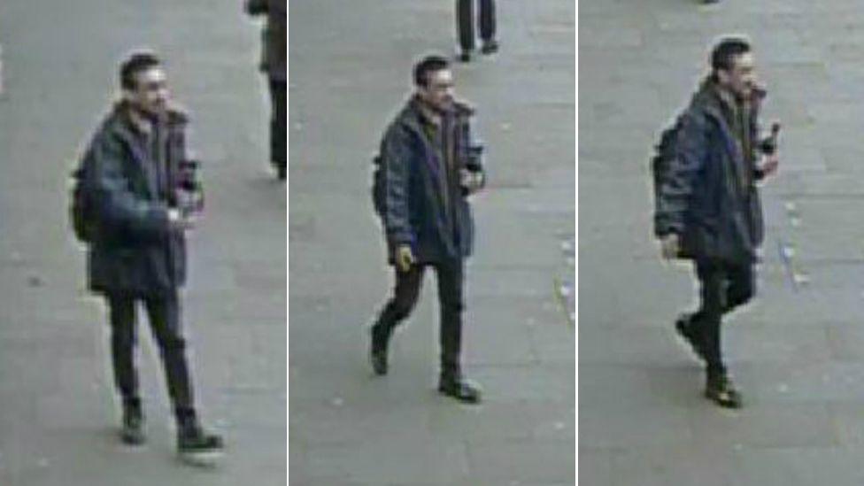 CCTV stills of the male suspect
